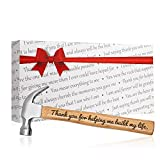 Father's Day Gift Thank You for Helping Me Build My Life Engraved Wood Handle Steel Hammer...