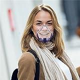 YQRDSHJS 1 pieza nuevo anti-vaho protección facial brillo de labios transparente protector bucal antisplash mascarilla de protección para la boca y la nariz máscara de aislamiento para hombre y mujer