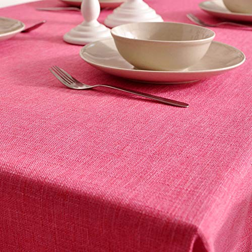 Tafelkleed van katoen, eenkleurig, modern, met letters, eenkleurig, tafelkleed van linnen, klein