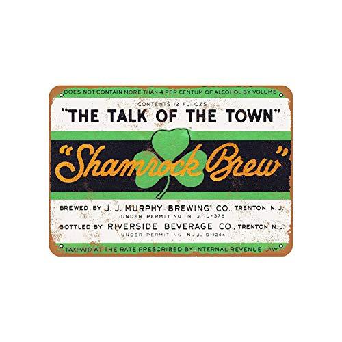43LenaJon 1933 Murphy Shamrock Brew Birra Vintage Look Targa in Metallo
