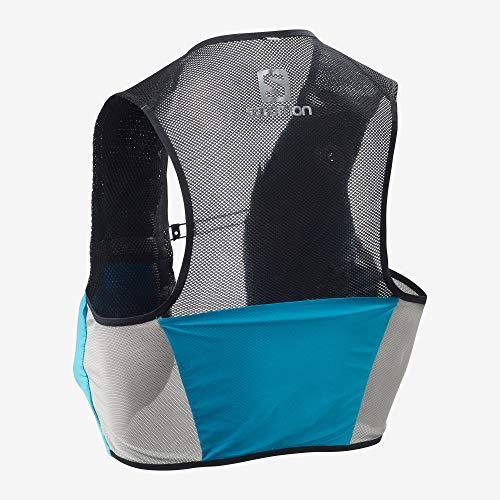 Salomon S/Lab Sense 2 Set Unisex Trail Running Vest Backpack, Transcend Blue, Medium