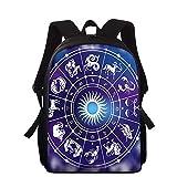 QWEIAS 3D Constelaciones Mochila Estampado,Bolso Infantil para Niños Niñas Escuela Guardería,Laptop Mochilas Libro Bolsas Bolsa de Hombro M