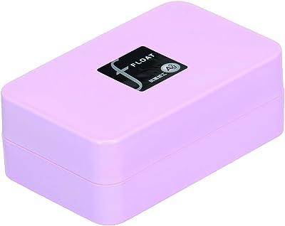 新輝合成 トンボ フロート 石けん箱 水切り皿付き ピンク 10.9×6.8×4.4cm