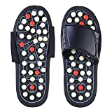 DAZIBAO Spring Acupressure and Magnetic Therapy Accu Paduka Slippers for Full Body Blood Circulation Natural Leg Foot Massager Slippers For Men and Women (Unisex) (Size 6, 7, 8, 9)