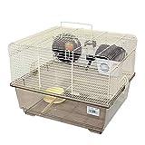 DZL-Jaula Hámster Chalé jaulas Hamsters Grande con Rueda de Juego casita Hamster Accesorios Bebedero comedero (M 29 * 5 * 39 * 32CM)