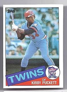 KIRBY PUCKETT 1985 Topps Rookie Card RC #536 Minnesota Twins Baseball