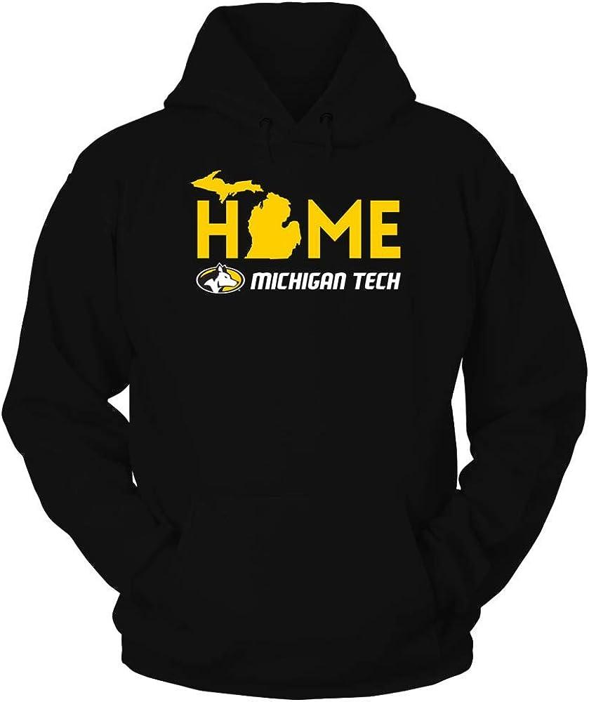 FanPrint Michigan Tech Huskies Hoodie - Home