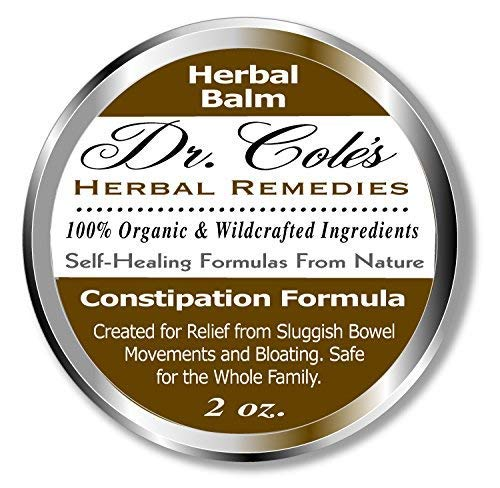 Dr. Cole's Organic Herbal Constipation Relief Formula. Natural, Non-Toxic Ease from Sluggish Bowel Movements & Bloating. Safe, External Ointment for Infants, Toddlers, Kids, Adults, The Elderly & Pets