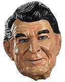 Disguise Reagan Vinyl Costume Mask, Tan/Black/White, Adult