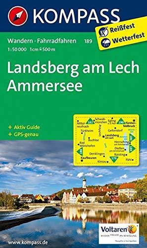 KOMPASS Wanderkarte Landsberg am Lech - Ammersee: Wanderkarte mit Aktiv Guide und Radwegen. GPS-genau. 1:50000 (KOMPASS-Wanderkarten, Band 189)