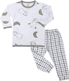 Baa Baa Sheepz Pyjamas Set, White/grey, 18-24M