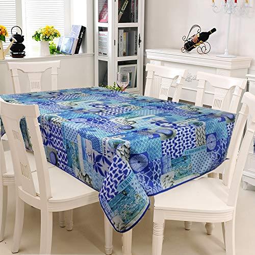 Arte Provenzale TOVAGLIA ANTIMACCHIA Dis. Turquoise Rettangolare per Sala da Pranzo e Cucina (240_x_150_cm)
