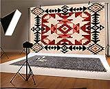 Patrón geométrico de vinilo para fotógrafos de 1,8 x 1,8 m, con rombos cuadrados, diseño ornamental, nativo americano, fondo para bebé, cumpleaños, fiesta, boda, graduación, decoración del hogar