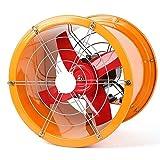 YINUO Fans Ventilador eléctrico de Alta Velocidad del Acero Inoxidable Extractor Industrial/Cilindro del Taller Potente Extractor del Humo de la Cocina/Campana Creativa/Ventilador de ventilación