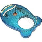 Arpa de caoba Material de madera azul Forma de panda Arpa C Caoba maciza de escala mayor para el mejor regalo para el hogar