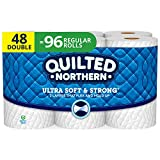 Quilted Northern Ultra Soft and Strong Toilet Paper, Double Rolls, 48 Count of 164 2-Ply Sheets Per Roll
