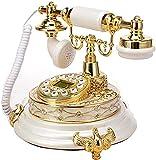 FDGSD Teléfono Fijo Antiguo Pasado de Moda para Ancianos Teléfono Clásico...