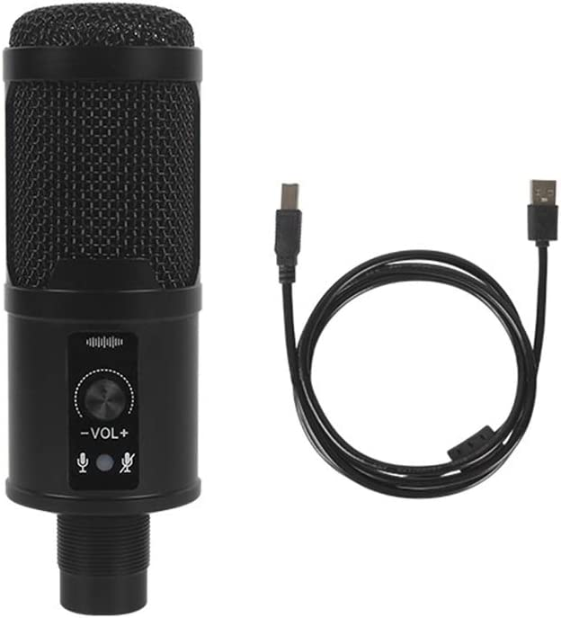 Wired Great interest USB Microphone Condenser Mic with for Computer L 2021 spring and summer new Cable