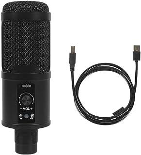 ميكروفون، ميكروفون مكثف USB سلكي مع كابل USB للكمبيوتر المحمول وتسجيل الموسيقى عبر الانترنت الغناء