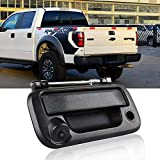 HD 1280x720p Tailgate Handle Car Backup Reverse Reversing Rear View Camera for Ford Pickup Truck Ford F150 F250 F350 F450 F550 2005-2014 Night Vision Backing Cameras