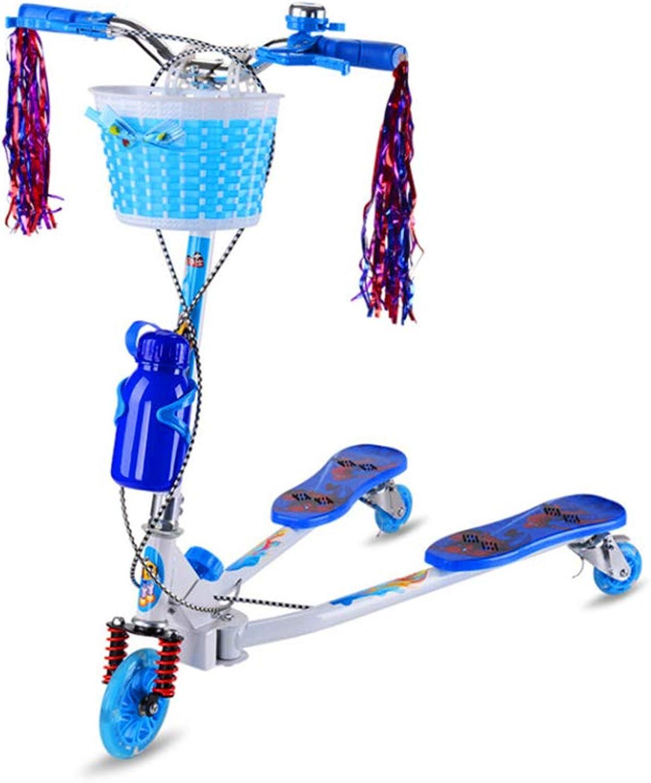 solo para ti HYRL Scooter para Niños, Niños, Niños, Swing Plegable Scooters para Niños 3 Ruedas Push Scooter Giratorio Portátil Twist Plegable para Mayores de 3 años,azul  venta al por mayor barato