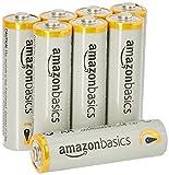 AmazonBasics Lot de 8 piles alcalines Type AA 1,5 V 2875 mAh (design variable)