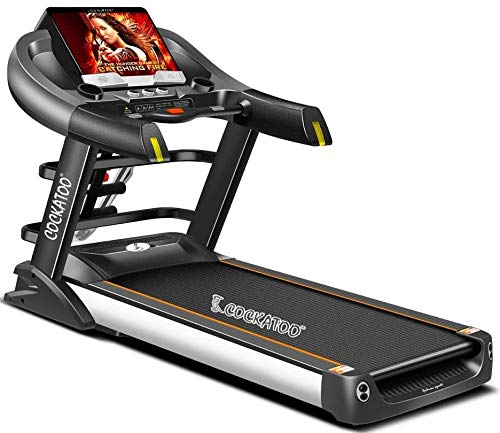 Cockatoo CTM-01 2.5 HP -5 HP Peak AC Motorized Semi Commercial Treadmill with Auto Incline Up to 15%, Max User Weight 150 Kg, Max Speed 20Km/hr(Free Installation Assistance)