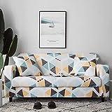 Fundas de sofá elásticas a cuadros para sala de estar, protector de muebles antideslizante, calidad duradera, resistente a las arrugas A18 4 plazas