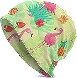 Whecom Strickmützen, Exotic Pink Flamingos Valentine Funny Upgrade Hip-hop Adult Pullovers, Adult Knit Beanie Warm Knit Ski Skull Cap Beanie Mütze One Size für Damen und Herren
