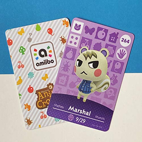 No. 264 Marshal ACNH Animal Villager Cards Series 3. Third Party NFC Card. Water Resistant