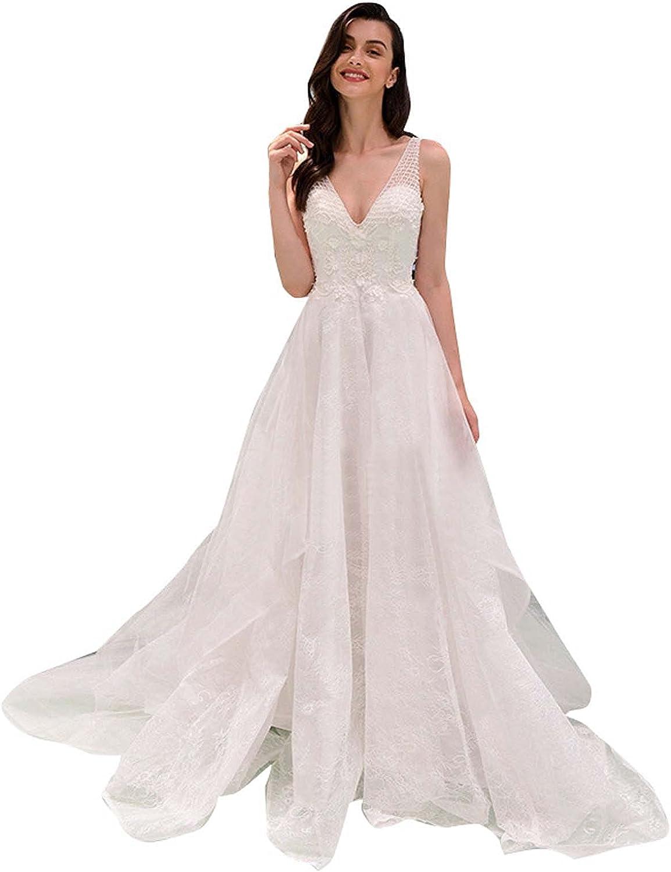 safety AIYIFU V Neck Wedding Dress Wedd Dresses Lace Bridal Bargain Bride