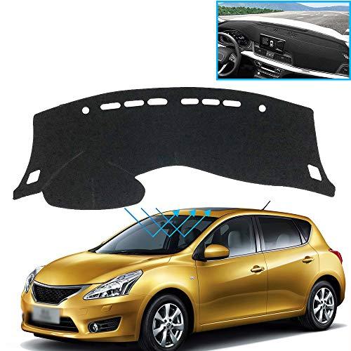 XHULIWQ Auto Armaturenbrett Abdeckung Anti-Rutsch-Sonnenschutz Pad Zubehör, Für Nissan Tiida Pulsar C12 2012-2014