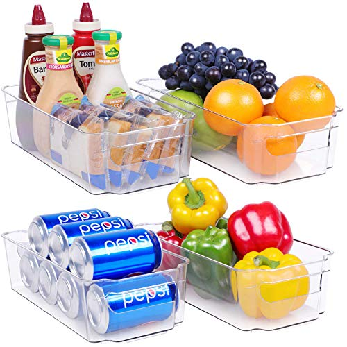 HapiLeap - Contenitore per Frigorifero, Contenitore per Frigorifero, senza BPA, Per Congelatore, Armadietti, Controsoffitti, Cucina, Dispensa, Organizzazione e Stoccaggio