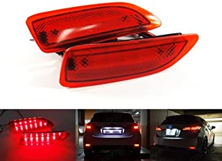 LEDIN for Toyota Corolla Lexus CT200h Red Lens Rear Bumper Reflector LED Tail Brake Light