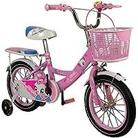 Zerimar Bicicletas Infantiles para niñas  Bici con ruedines y Cesta  Bici niña   Bicicleta niños 14,16,18 Pulgadas   Bicicletas niñas 3-7 años