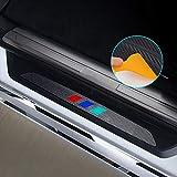 Para 2002-2005 E46 316i 318i 320i 325i 328i 330i 323i Decoración Pegatina Para Estribos,Protección de pedal de umbral,Faldones laterales fibra de carbono,Evitar el desgaste 4Piezas