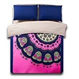 MeMoreCool Home Textile Autumn and Winter Ethnic Series 3-Piece Bedding Set Bohemia Style Design Duvet Cover Sets Soft Bed Sheets Twin Size