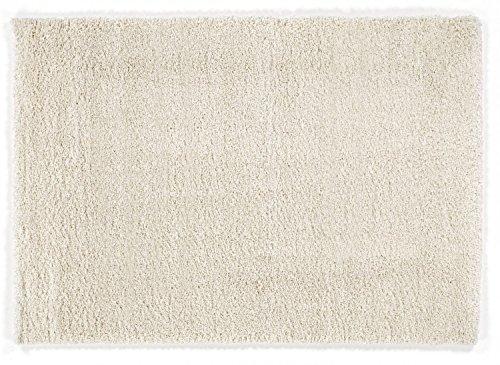 PANTHA SHAGGY Hochflor Langflor Teppich in creme-weiß, Größe: 200x200 cm