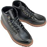 [デクト] 防水 ワークブーツ レインシューズ スノーブーツ メンズ 靴 (26.5cm, ブラック)