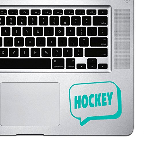 stickany Palm Serie Hockey Speech Bubble Aufkleber für MacBook Pro, Chromebook, und Laptops (Türkis)