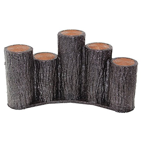 サンポリ 樹脂製擬木はなえ80φ 5連段違い杭アーチタイプ H200 (1本)