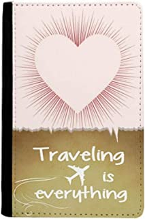 Heart Shaped Love Valentine's Day Traveling quato Passport Holder Travel Wallet Cover Case Card Purse