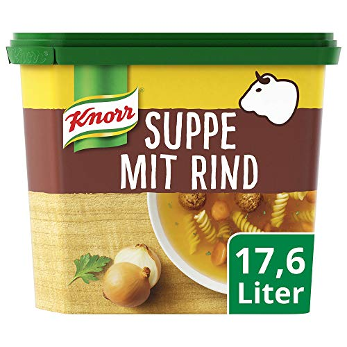 Knorr Suppe mit Rind Dose Ergiebigkeit = 17.6 l