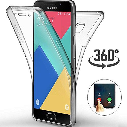 Preisvergleich Produktbild Ptny Ultra dünn Case Geeignet für Samsung Galaxy A3 2016 (A310),  [Touch 3.0 Verbesserte Version] [360 Grad Ganzkörper Schutz] [Vorne und Hinten Schutzhülle] Silikon Crystal TPU Full Body Cover