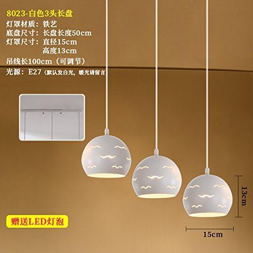 LuckyLibre Pendentif Simple chambre à coucher moderne Bar Café Restaurant Cuisine couloir plafond Lustre Lampe éclairage plaque longue 8023 3 siège
