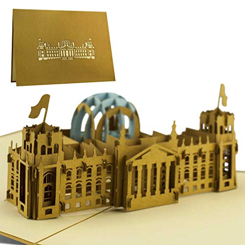 Reisegutschein für Wochenende in Berlin, Reichstag als Pop-Up Karte, 3D Modell, Berlin Geschenk A04