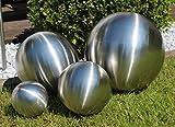 Edelstahl Deko-Kugel 4 Stück - große Kugeln Silber gebürstet matt