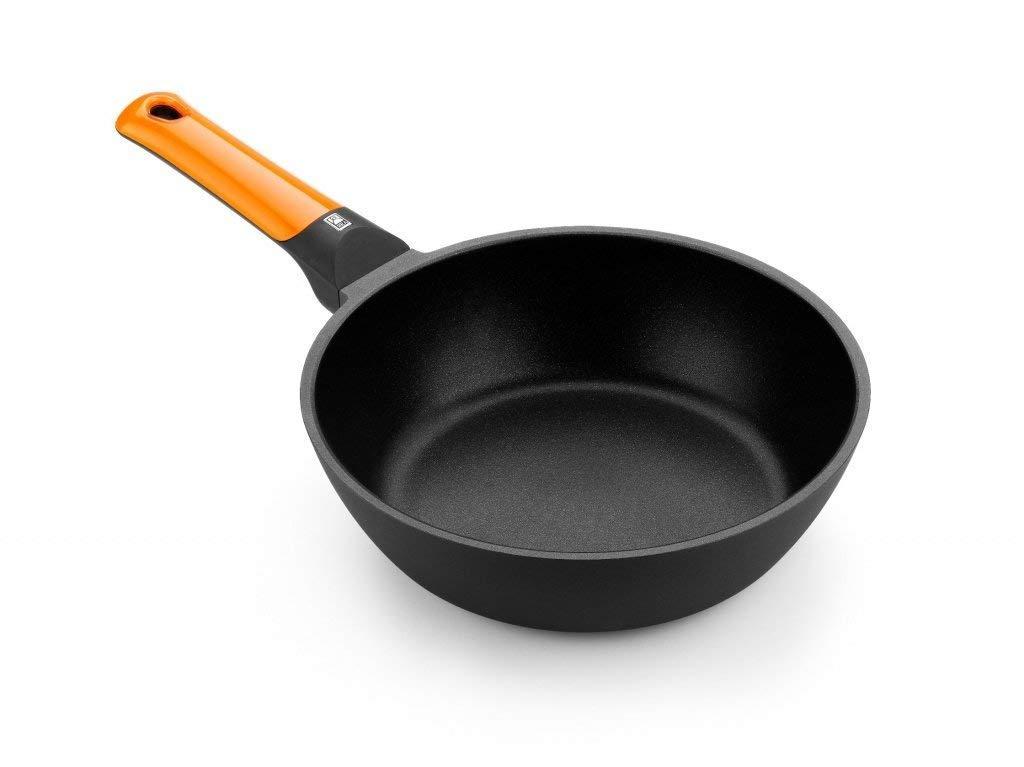 BRA Efficient orange Sartén honda 28 cm, aluminio fundido con ...