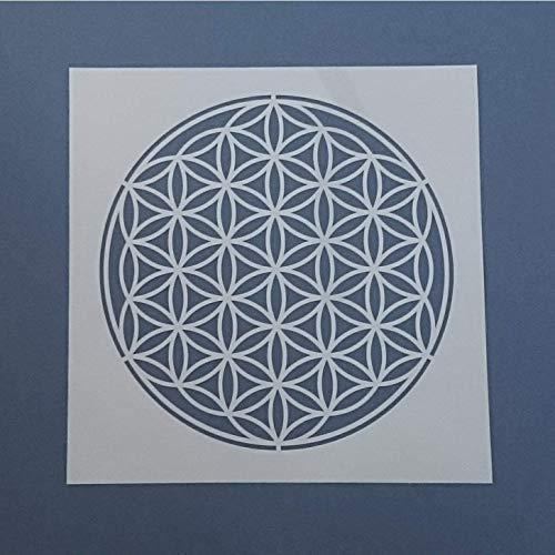 Schablone, Wandschablone – Blume des Lebens, 7510, Ø 30-80cm, XXL Malerschablone, Wandgestaltung