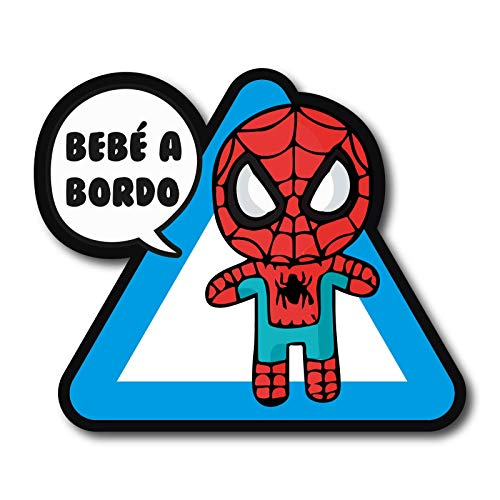 Bebe A Bordo Spiderman Comic Marvel Pegatina Vinyl Sticker Decal Coche AUFKLEBER